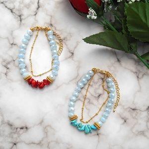 🆕️ Gemstone Chip Bracelet